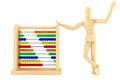Toy abacus with wooden dummy Stock Photography