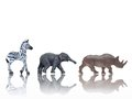 Toy Animals Stock Photography