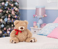 Toy bear in Christmas mood
