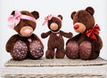 Toy bears family teddy in love see my other works in portfolio Royalty Free Stock Photo
