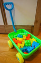 Toy blocks cart Royalty Free Stock Photo