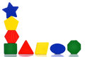 Toy blocks colorful on white background Royalty Free Stock Images