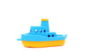 Toy boat blue and yellow Stock Image