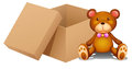 A toy and a box illustration of on white background Royalty Free Stock Image