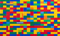 Toy brick wall in different colours Royalty Free Stock Photos