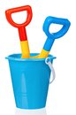 Toy bucket and spade Royalty Free Stock Photo