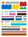 Toy building pieces in vector