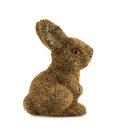 Toy bunny statuette isolated over the white background Stock Images