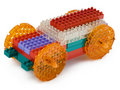 Toy car made from meccano Stock Images