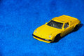 Toy car model yello pick bright colors Royalty Free Stock Image