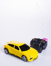 toy car or radio control car on background. Royalty Free Stock Photo