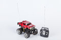 Toy car with radio remote control Royalty Free Stock Photo