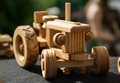 Toy car small wooden close up Royalty Free Stock Photography