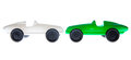 Toy car verde e branco Fotos de Stock Royalty Free