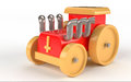 Toy car wooden on white background Stock Photography