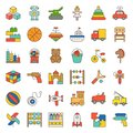 Toy for children and baby icon set 1/3