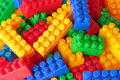 Toy color bricks background Royalty Free Stock Image