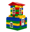Toy colorful house beautiful isolated on a white background Royalty Free Stock Image