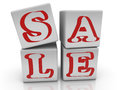 Toy cubes with inscription SALE Royalty Free Stock Photo