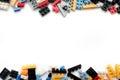 Toy cubes lego Royalty Free Stock Photos
