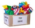 Toy donation box Royalty Free Stock Photo