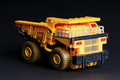 Toy dump truck over black background Stock Image