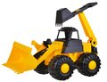 Toy Earthmover excavator Royalty Free Stock Photo