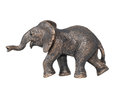 Toy elephant isolated on white background. Royalty Free Stock Photo