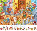 Toy factory. Find 15 objects in the picture Royalty Free Stock Photo