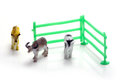 Toy farm animals on white background Royalty Free Stock Photos
