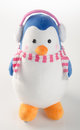 toy or funny handmade toy penguins on background. Royalty Free Stock Photo