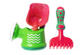 Toy gardening tools Stock Foto's