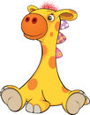 Toy giraffe cartoon little with eyes Royalty Free Stock Photography