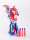 toy gun or toy dart gun on background. Royalty Free Stock Photo