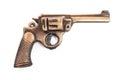 Toy gun on white Royalty Free Stock Photo
