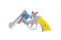 Toy hand gun, isolated on white background Royalty Free Stock Photo