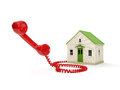Toy House and the handset Stock Photography