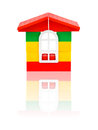 Toy house isolated on white background Stock Photography