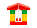 Toy house isolated on white background Stock Photo