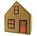 Toy house isolato Immagini Stock
