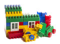 Toy house on a white background Royalty Free Stock Photos
