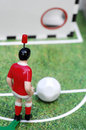 Toy kicker and ball soccer Stock Image