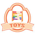 Toy label abstract on a white background Stock Image
