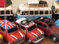 Toy models of cars and vans