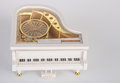 toy music box or piano music box on a background. Royalty Free Stock Photo