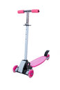 Toy pink scooter for kids Royalty Free Stock Photo