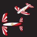 Toy plane. Airplane Vector illustration