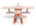 Toy plane wooden on a white background Royalty Free Stock Photography
