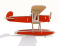 Toy plane wooden on a white background Stock Images