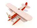 Toy plane wooden on a white background Stock Photography